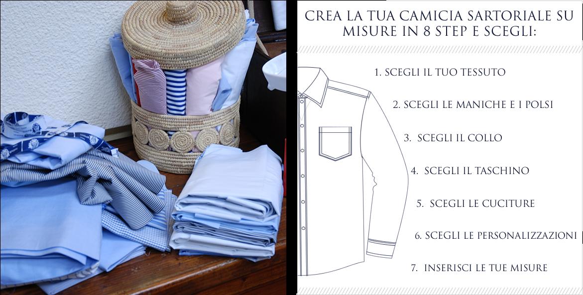 sale retailer f78b8 43fef Camicie su misura on-line - Camiceria Baldini